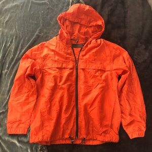 Blank NYC orange rain jacket with hood S/XS NWOT